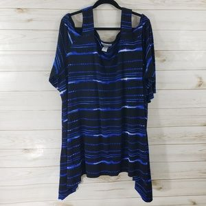 NWOT Catherine's Cold Shoulder Tunic SZ: 5X